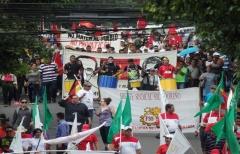 Manifestazione contro la privatizzazione dell'acqua